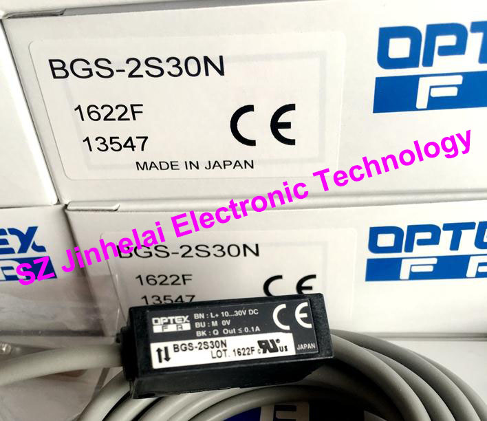 New and original BGS-2S30N OPTEX PHOTOELECTRIC SWITCH  Photoelectric sensor new and original zr 350n optex photoelectric switch photoelectric sensor