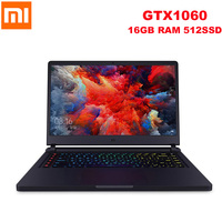 2019 Xiaomi Mi Gaming Laptop 15.6'' Windows 10 Intel Core I7 8750H Hexa Core GTX 1060 16GB+512GB Notebook With Backlit Keyboard