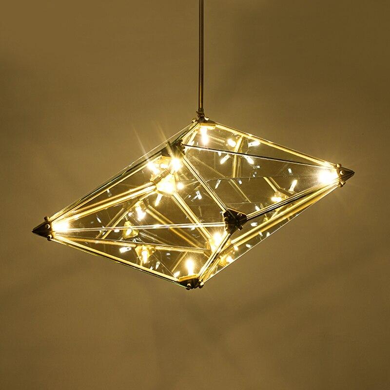 купить One combo 5pcs Modern LED Pendant Light Crystal Glass lampshade G4 3W LED bulb AC220V 110V input Creative LED Suspension Lamp недорого