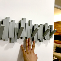 High Quality Piano Black Scarf and Legging Hangers Wall Key Clothes Hook Rack Decorative Holder Organizer Home Decor Accessories