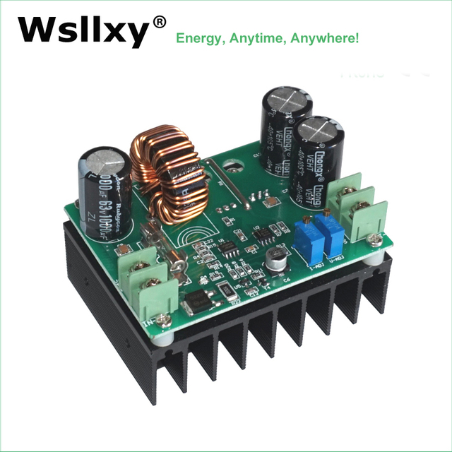 High Efficiency 95% DC-DC 600W IN 10-60V OUT 12-80V Boost Converter Step Up Module Mobile Power Supply DC Model 15A for Laptop