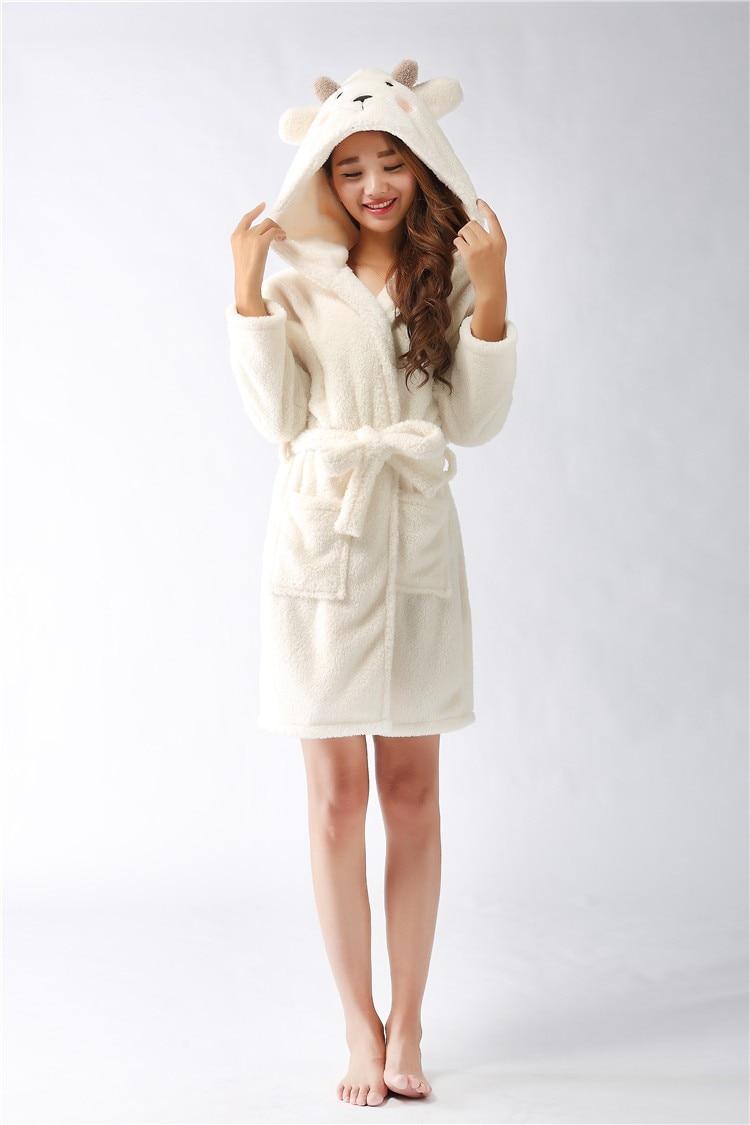 New plush robe Adult Animal sheep Pajamas long sleeve lovely Sleepwear bath robes  dressing gowns for women bathrobe-in Robes from Underwear   Sleepwears on  ... 0defc6cc4