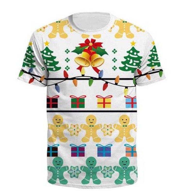 3D Weihnachts Drucken T-shirt Männer Frauen 2018 Mode Santa Claus T Hemd Homme Harajuku Hip Hop Weihnachten Kurzarm Sommer T Shirt