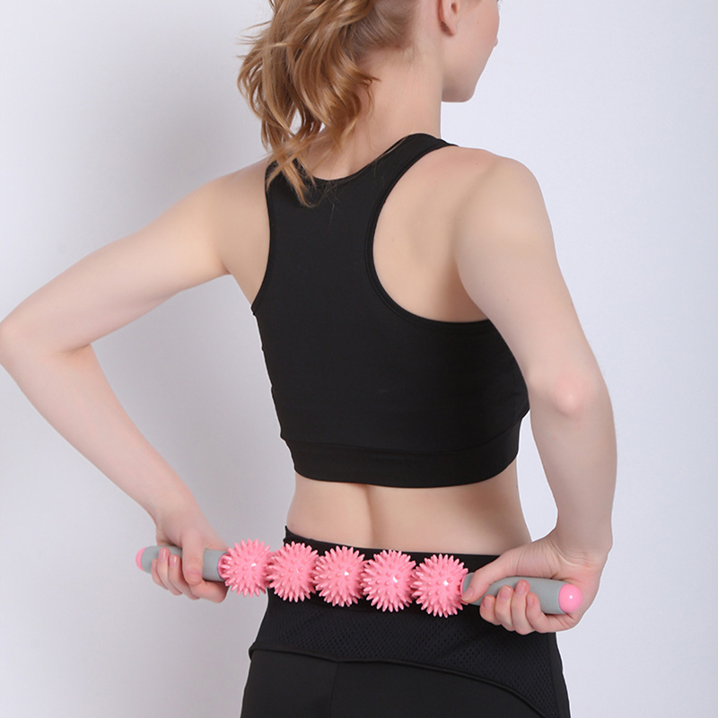 Massage Roller Yoga Stick Bar Muscle Trigger Point Massager Stick Eliminate Fat Lose Weight Cellulite Health Care Tools 30 new arrive thera cane back hook massager neck self muscle pressure stick tool manuel trigger point massage rod sswell