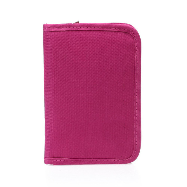 Wholesale10pcs*Women Multifunctional Canvas Clutch Bag Wallet Card Pas Holder Fuchsia