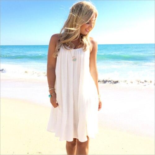 fb70a626b1 ... New Women White Bikini Cover Up Sarong Swimwear Sunscreen Backless Kaftan  Dress Summer Lace Back Beach ...
