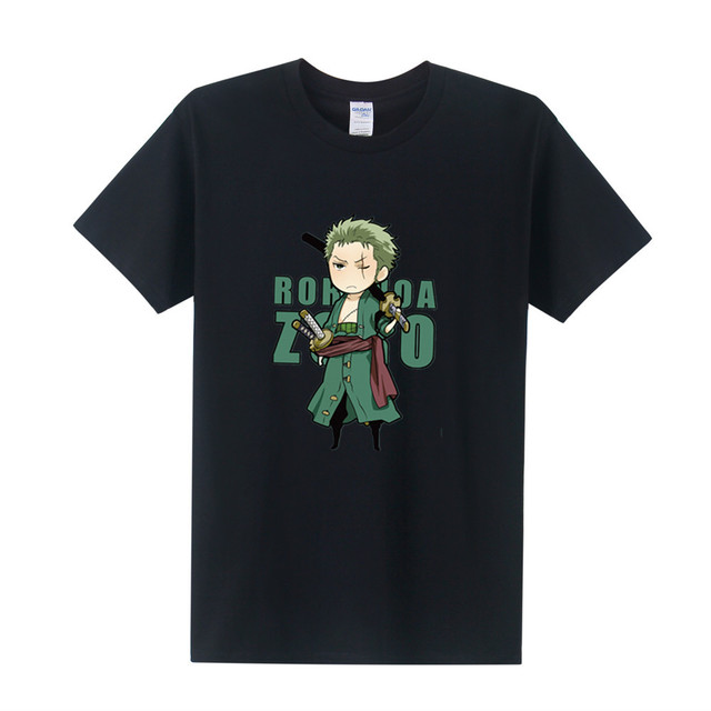 One Piece Roro Noa Zoro Casual Fashio Men's T-Shirt