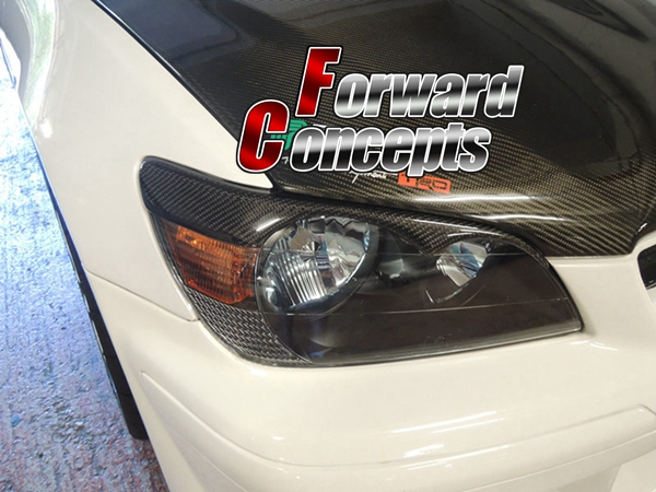 FOR CARBON FIBER 98-05 IS300 IS200 RS200 ALTEZZA T JDM HEADLIGHTS EYELIDS EYEBROWS