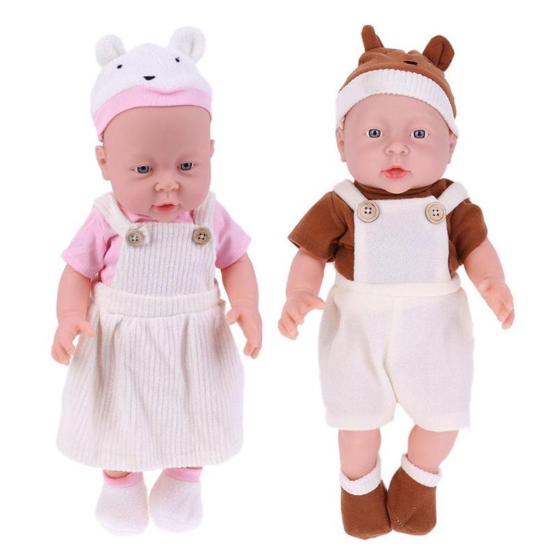 41cm Cute Simulation Reborn Baby Doll Kids Sleeping Playmate Toy Emulation Children Accompany Calm Gifts High Quality Dolls
