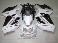New hot injection molding fairing kit For Kawasaki ninja 250r 08 09 10 14 2008 2014 white black EX250 fairings set PO37