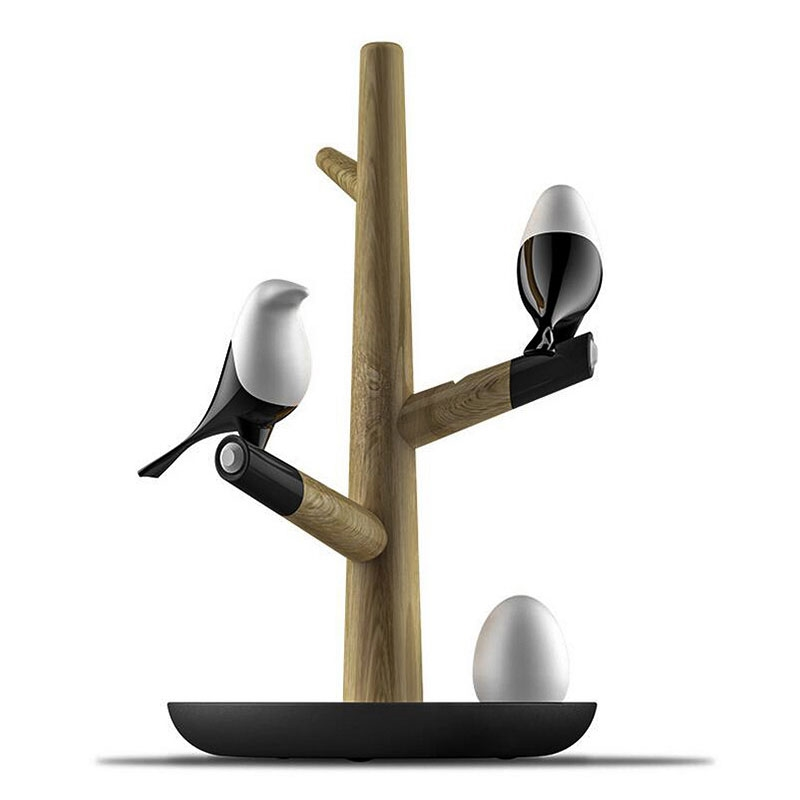 BDBQBL Magpie Wood LED Night Light USB Rechargeable Sconce Intelligent Night Lamp Motion Sensor Table For Bedroom Night Light