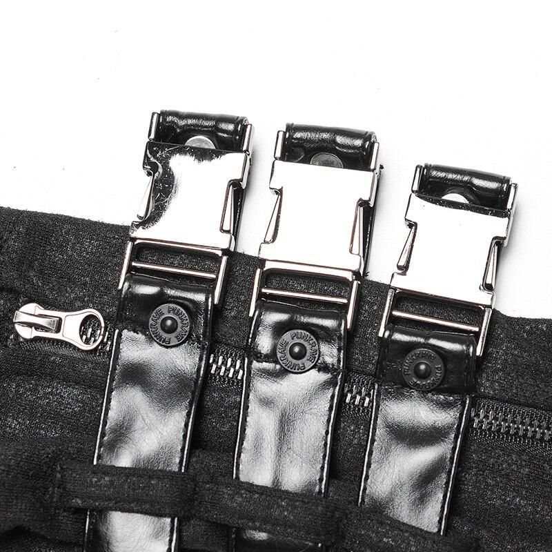 Черные кожаные перчатки без пальцев в стиле панк, готический стиль, женские длинные перчатки для езды на мотоцикле, аксессуары - 3