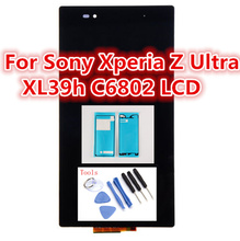 6.44 inch LCD For Sony Xperia Z Ultra XL39h XL39 C6806 C6843 C6833 lcd Screen +Touch Assembly +adhesive +tools ,free shipping