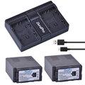 2x 6000ач VW-VBG6 VW VBG6 Аккумулятор для камеры + USB двойное зарядное устройство для PANASONIC AG-HMC71 HMC73 HMC150 HPX250 AC160MC AG-HMC155GK