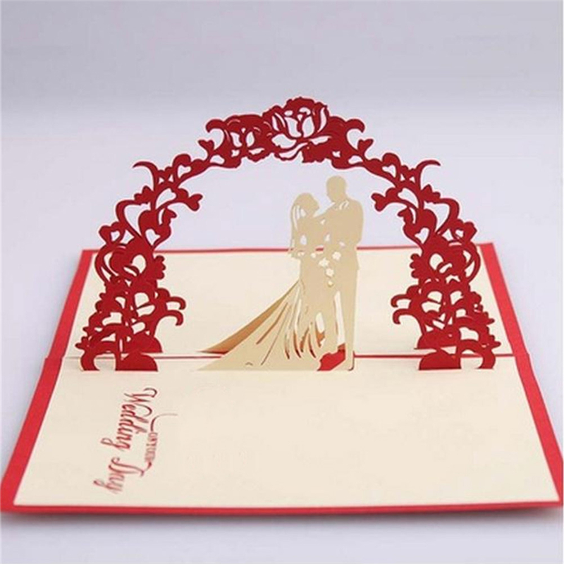 Aliexpress.com : Buy 1 PCS Hot Sale Red Unique Design 3D Bride Groom ...
