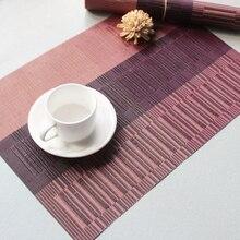 Eco-Friendly PVC  insulation pad waterproof mat European Style Rectangular western food Mats Resistance Bowl Dish D40