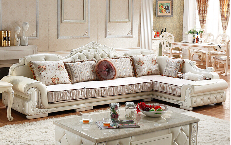 U-BEST Simple European style sofa combination sitting-room sofa Apartment-Haus solid wood living room furniture european laest designer sofa large size u shaped white leather sofa with led light coffee table living room furniture sofa