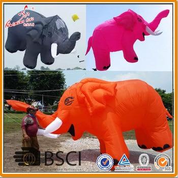 Cometa inflable de elefante de 500x300 cm de la fábrica de cometa kaixuan