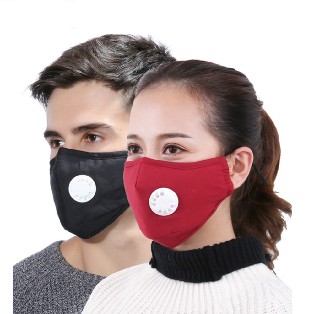 Mask Dust Respirator Anti Pollution Washable Reusable Masks Cotton Unisex Mouth Muffle For Allergy Asthma Travel Cycling