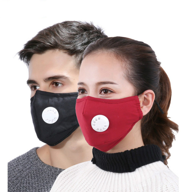 def40401d29 Mask Dust Respirator Anti Pollution Washable Reusable Masks Cotton Unisex  Mouth Muffle for Allergy Asthma Travel Cycling