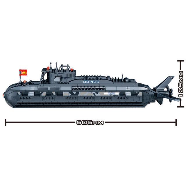 Military Submarine Blocks Set