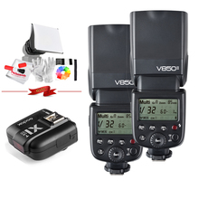 Godox v850ii GN60 w/2000 мАч литий-ионный Батарея 2.4 г Wirless x Системы вспышки Speedlite свет + x1t-n триггер передатчик для Nikon