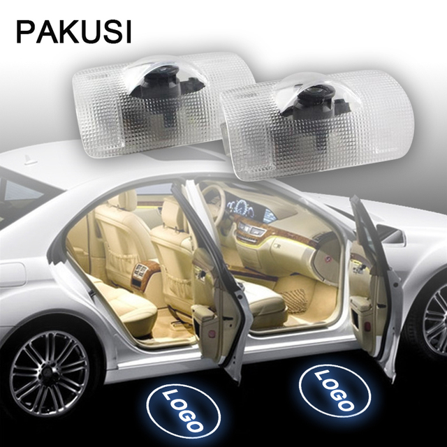 PAKUSI 2X Car LED Door Welcome Light 12V Projector Logo For Lexus RX GS 300  400