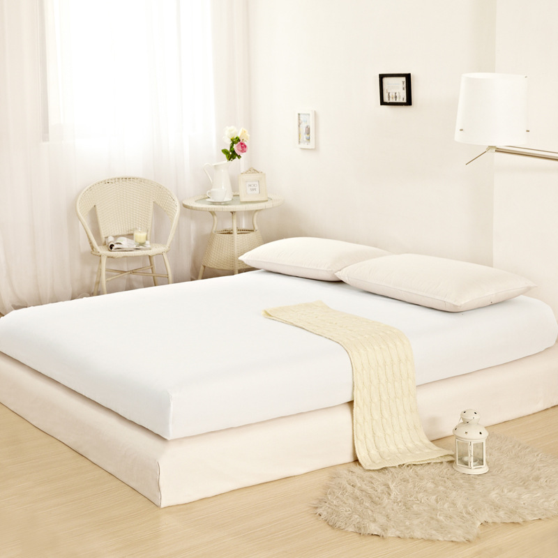 Cotton Futon Cover Twin Home Textile 1pcs Ed Sheet Solid Color Bed Soft