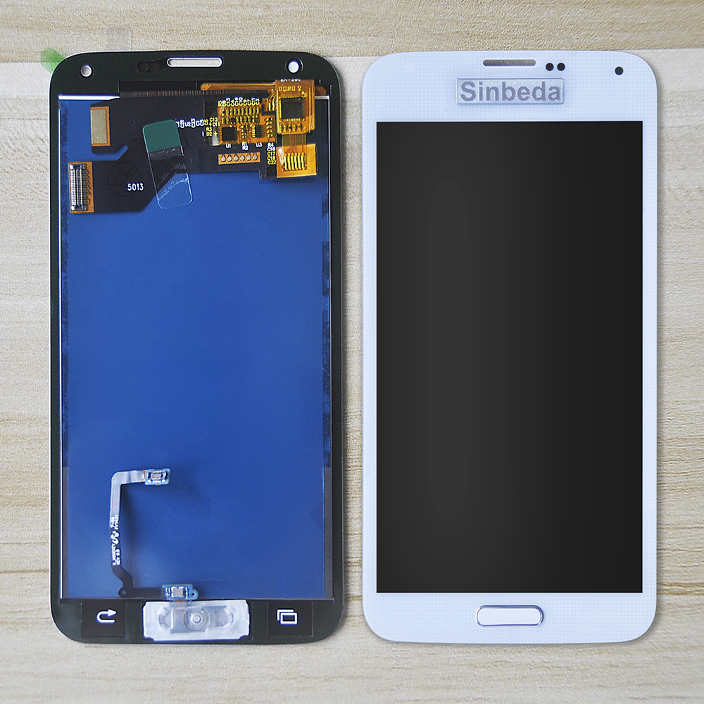 Sinbeda 100% Test For SAMSUNG GALAXY S5 LCD Display i9600 G900F G900M G9001 LCD Touch Screen Digitizer Assembly With Botton