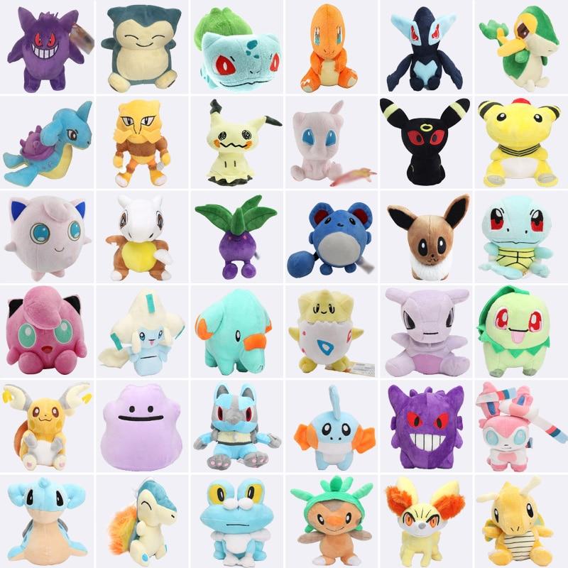Mimikyu Raichu Lapras Mew Dragonite Charmander Ditto Oddish Togepi Jigglypuff Mudkip Sylveon Snorlax Stuffed Dolls Plush Toys