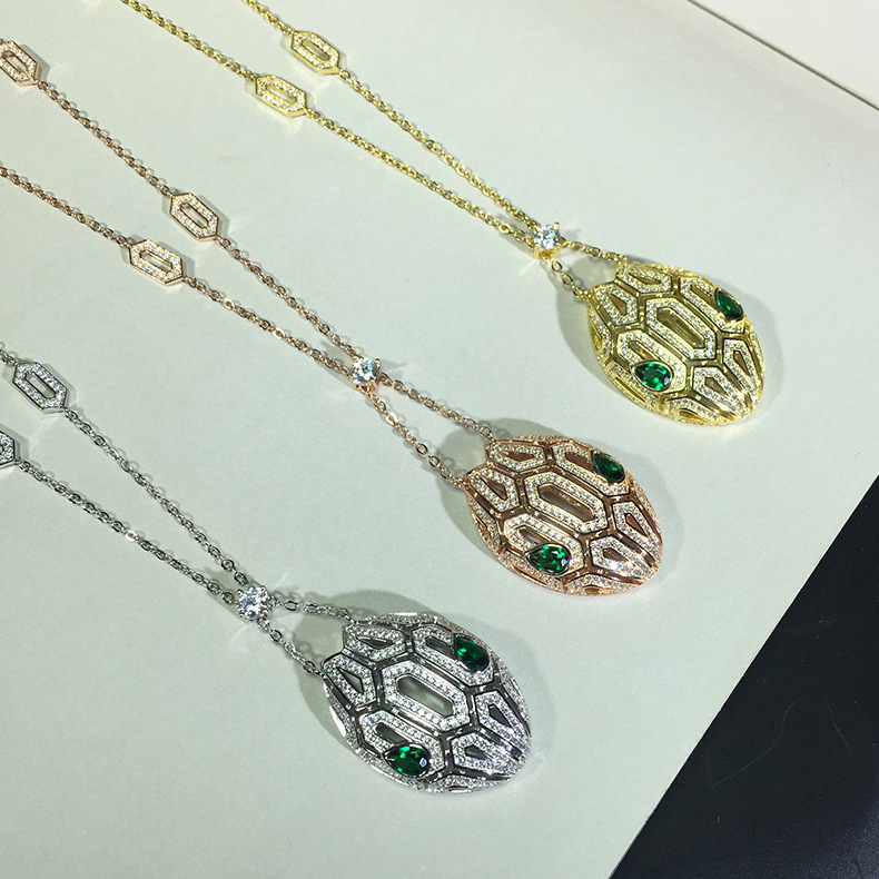 Party jewelry cubic Zirconia animal pendants necklaces for women
