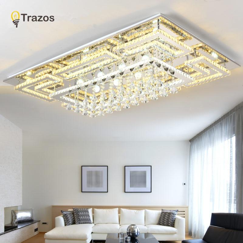 Роскошный Современный хрустальный потолочный светильник со стеклянным абажуром, золотой потолочный светильник для гостиной, спальни, lamparas