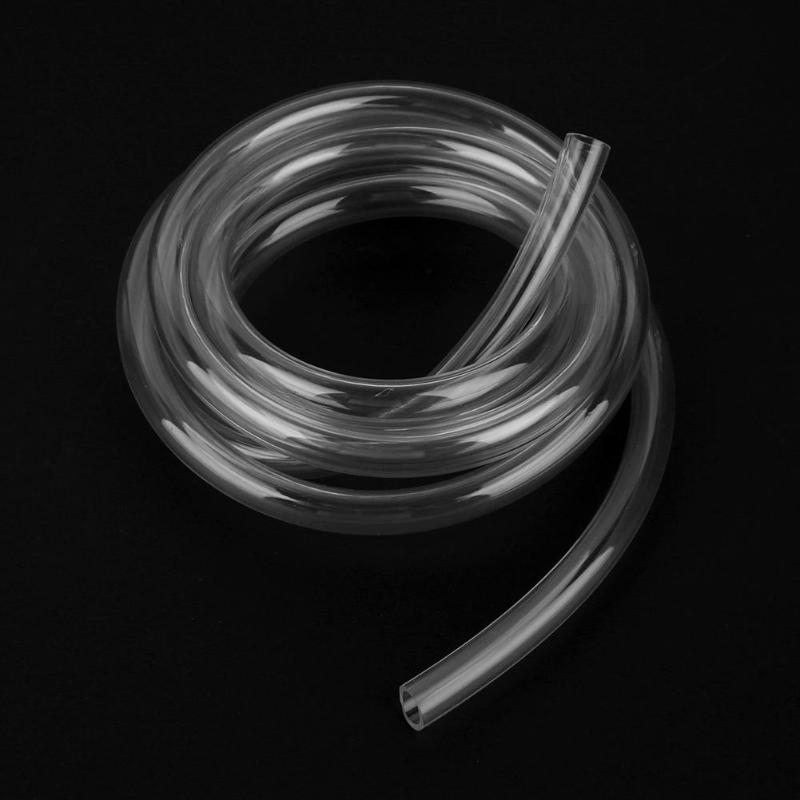 2m/6.56FT 9.5X12.7mm Transparent PVC Pipe Tube Computer PC Water Cooling Soft Pipe CPU <font><b>GPU</b></font> Water Cooling Block Adapter image