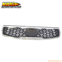 Fit For 10 11 Kia Rio OE Front Sport Mesh Honeycomb Grille Chrome Trim Black USA Domestic Free Shipping Hot Selling