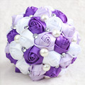 In stock Stunning Wedding flowers Colorful Bridesmaid Bridal Bouquets Artificial Satin Rose Wedding Bouquet XF02