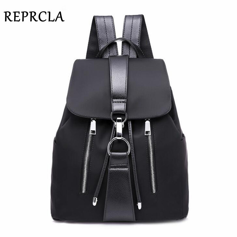 REPRCLA Fashion Waterproof Oxford Backpack Girls Schoolbag Shoulder Bag High Quality Women Backpacks Travel Bag Mochila