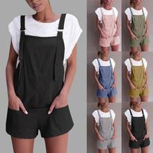 2018 summer womens romper Loose Dungarees rompers Loose Rompers Jumpsuit Shorts Pants Trousers mamelucos womens jumpsuit