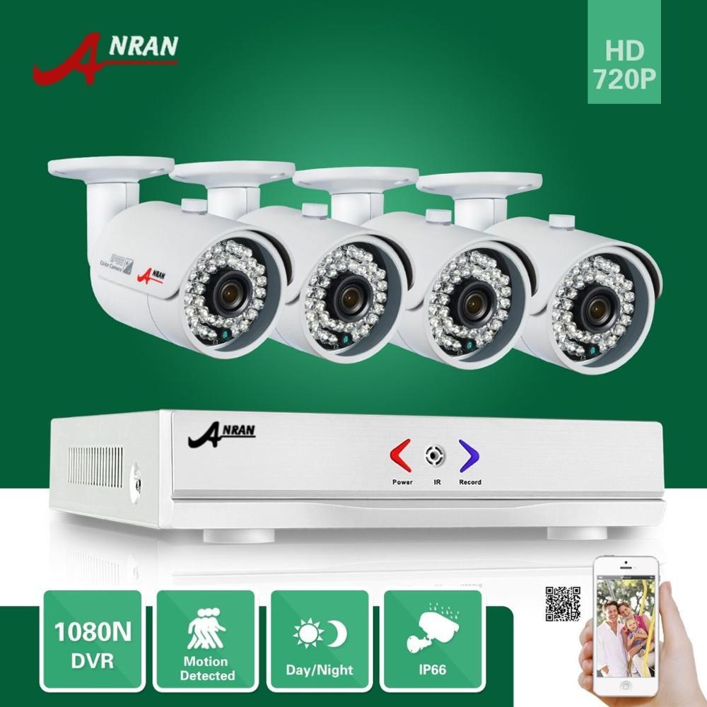 ANRAN 1800N 4CH 720P HDMI Surveillance AHD DVR KIT 4X 36IR Day Night Outdoor Waterproof Bullet