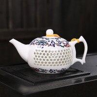 Hollow carved Ceramic Teapot,Retro Kungfu Tea Making,Zen ceremony Drinkware cups porcelain teaset,pu'er/puerh/Dahongpao/white
