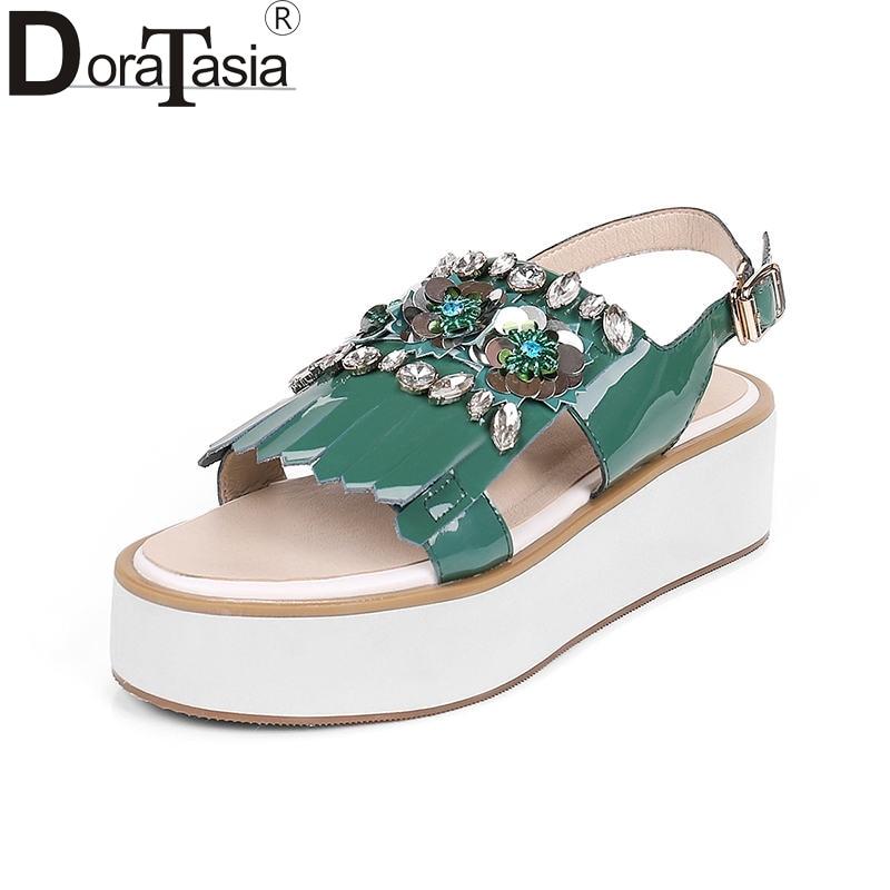 rosado 34 Zapatos Cuero Genuino Correa 2019 Nueva Caliente Marca Tamaño Venta Sandalias Ocio Popular Mujer De Verde 39 Doratasia ZwSqUfnCW