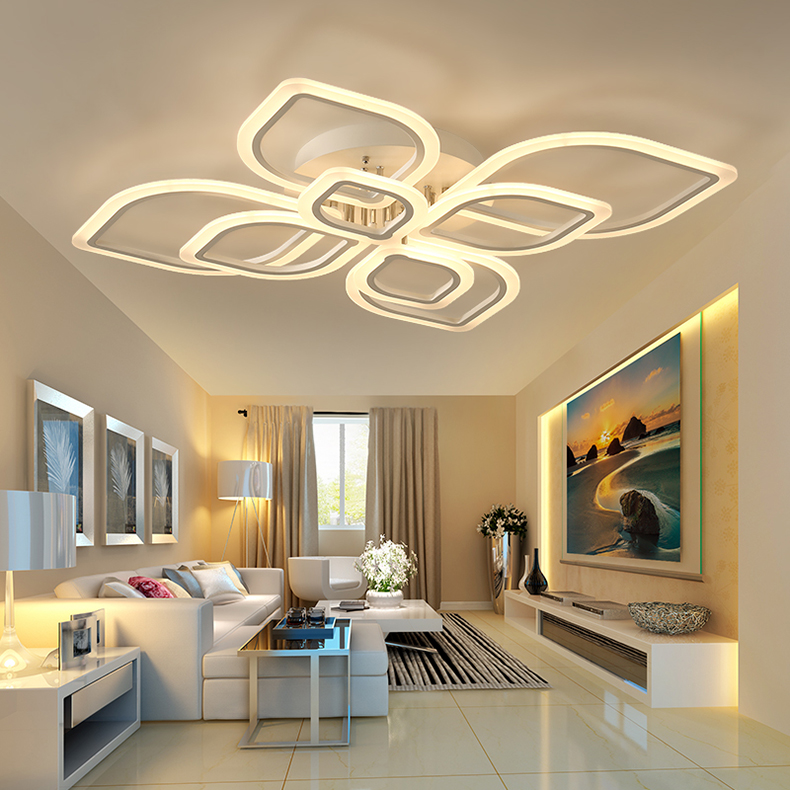 Modern Chandeliers Led to Living Room Bedroom Dining Room Acrylic Ceiling Lamp Chandelier Home Indoor Lighting