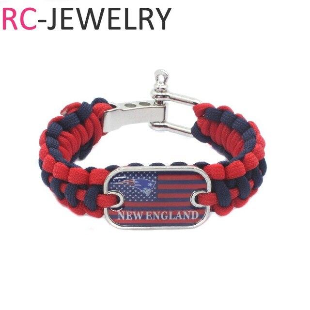 18 American Football Team New England Patriots Survival Paracord Bracelet For Men Sports