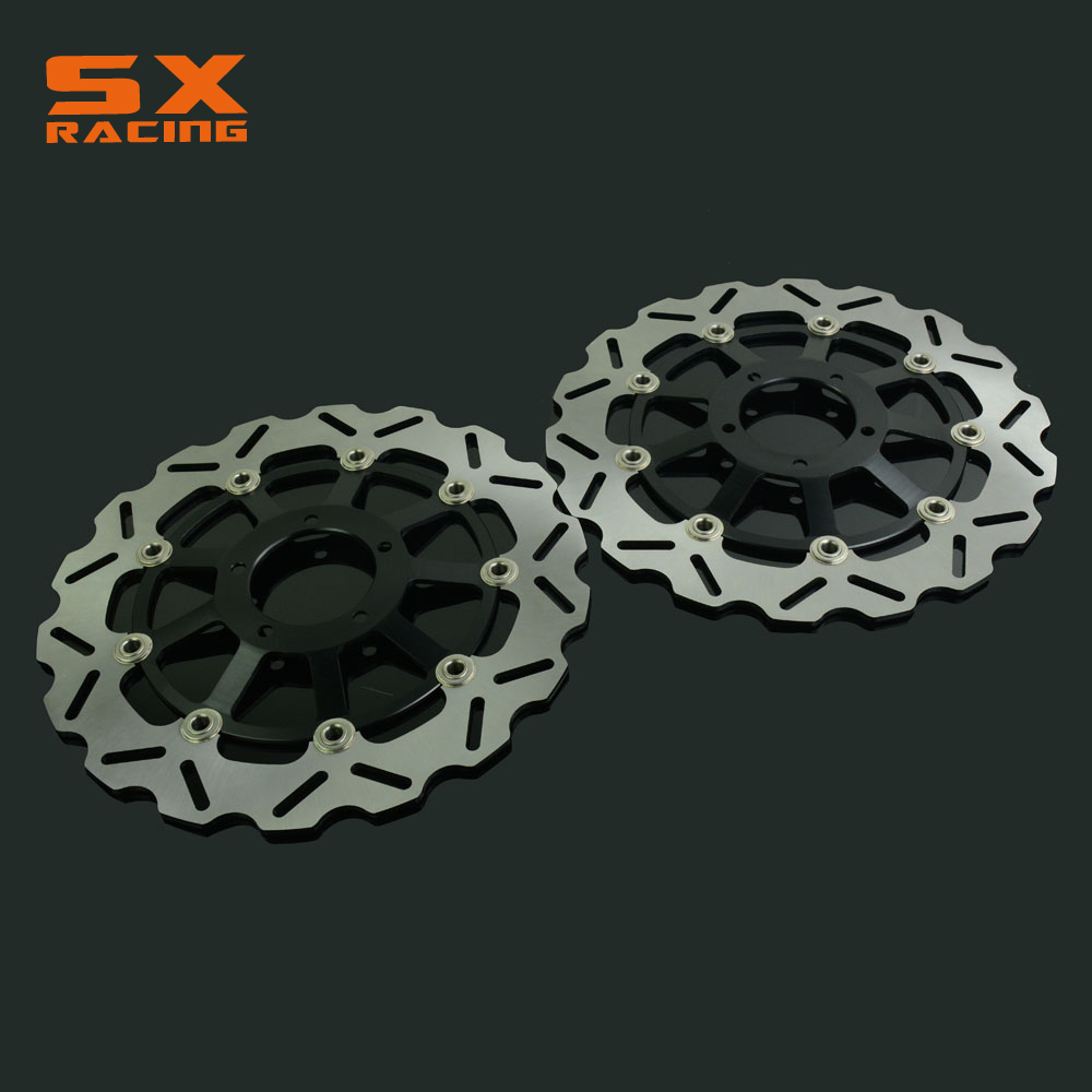 Motorcycle Black Front Floating Brake Disc Rotor For DUCATI 749 749R 2006-2006 999S 2003-2006 1100 S Monster 2 Pcs 2pcs motorcycle front floating brake disc rotor for xj600n tdm900 bt 1100 fazer1000 fzs yzf r1 xjr1300 xvs1300 xv1700 xv1900