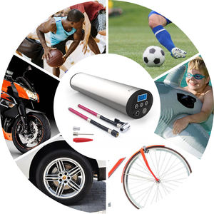 Image 5 - Fineed air compressor Mini electric air pump 150 PSI 12V Electric Auto Bicycle Pumps with Tyre Pressure Gauge Led light