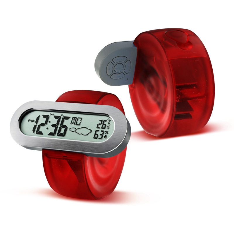 High Quality Smart Home Eco Friendly Battery Free Water Powered Cl Ock With Alarm Thermometer Weather