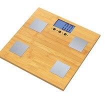 ONEZILI измеряет вес тела Жир вода кость масса экологичный бамбуковый анализатор тела цифровые весы для ванной