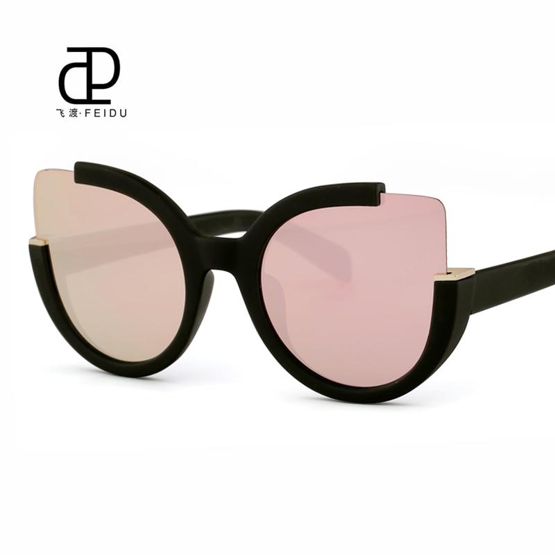 FEIDU Venta Caliente Oversized Cat Eye Sunglasses Mujeres Diseñador de la Marca Gafas de Sol Para Mujeres Gafas Mujer Sol Gafas De Sol