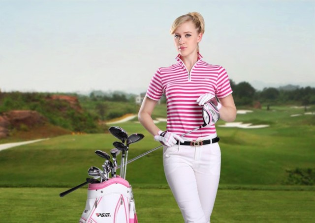 Hot sale new golf clothing ladies t shirts golf short for Golf t shirts for sale