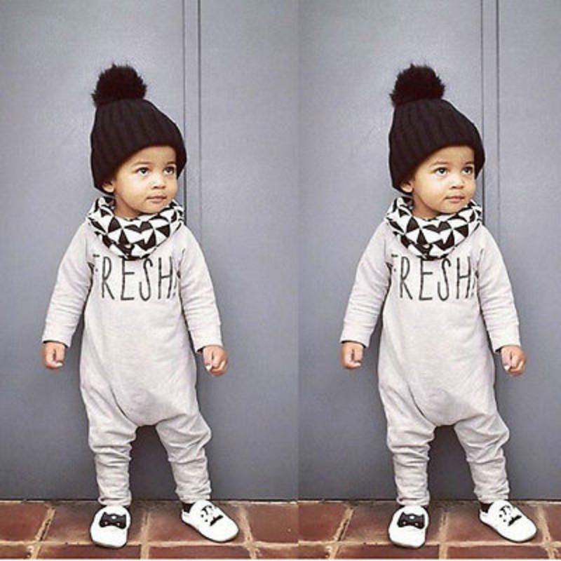 Kids Infant Baby Boys Girls Warm Romper Jumpsuit Overall Autumn Baby Kids Clothes Outfit ...