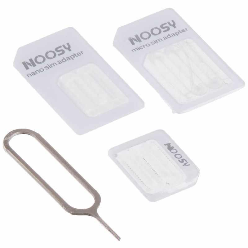 Javy Micro Nano SIM Kartu Adaptor Konektor Kit untuk Iphone 6 7 PLUS 5S Huawei P8 Lite P9 Xiaomi note 4 Pro 3S Mi5 Sims Pemegang